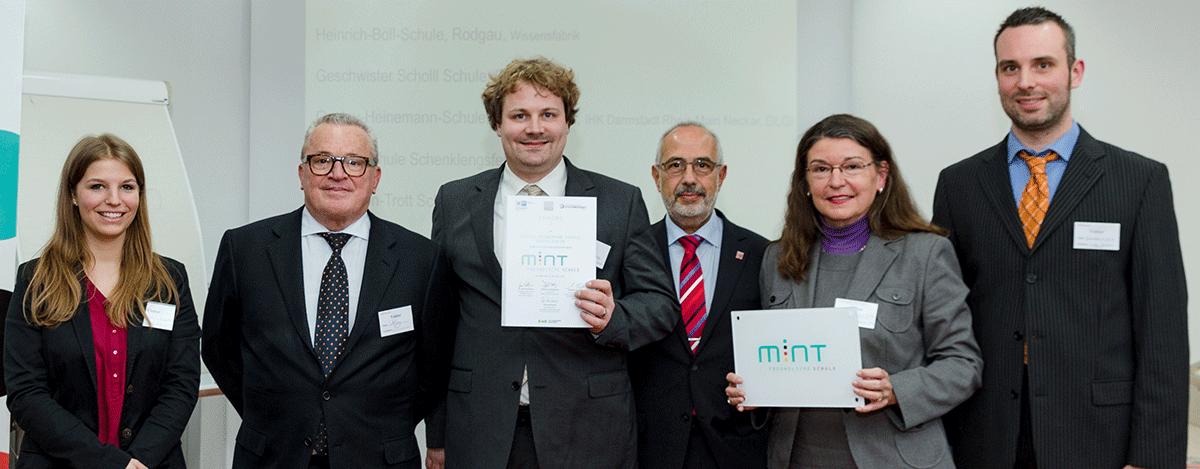 Verleihung MINT-freundliche Schule 2015