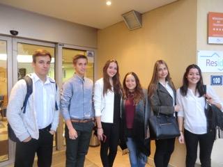Schülergruppe in Antibes