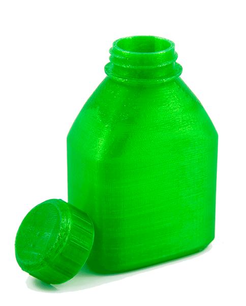 3D Druck Flasche grün