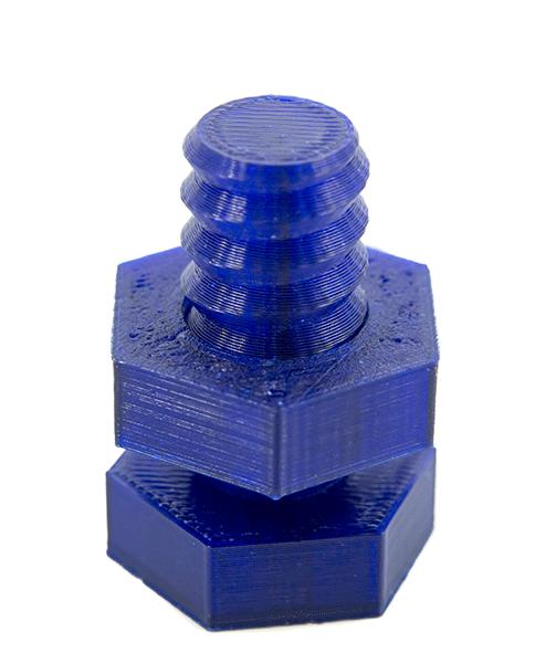 3D-Druck Schraube (blau)